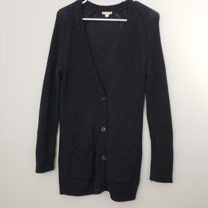 GAP Chunky Half Button Cardigan Sweater